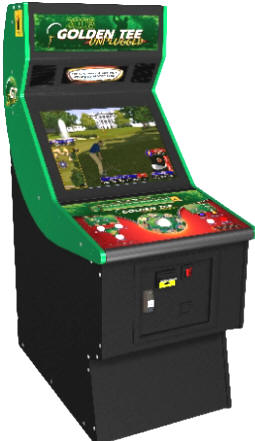 Golden Tee Golf Unplugged Factory Upright Cabinet  From Incredible Technologies / IT / ITS