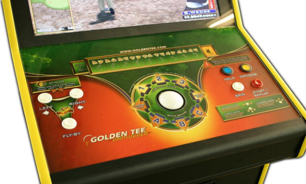 Golden Tee 2008 Unplugged Version Control Panel Picture