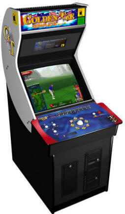 "Golden Tee Golf Complete Commercial Coin Operated 27"" Monitor Factory Edition - Golden Tee Fore Complete Video Arcade Golf Game From ITS / Incredible Technologies"