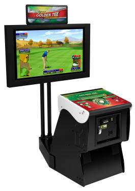 Golden Tee Golf Unplugged 2010 Factory Showpiece Pedestal Cabinet From Incredible Technologies / IT / ITS