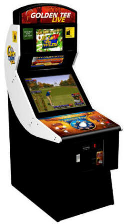 Golden Tee Golf Live 2008 | Factory Upright Cabinet Model From Incredible Technologies / IT / ITS