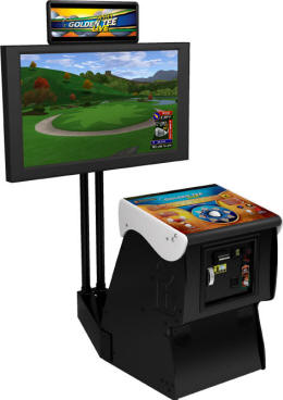 Golden Tee Golf Live 2010 Model - Showpiece Cabinet From ITSGames / Incredible Technologies