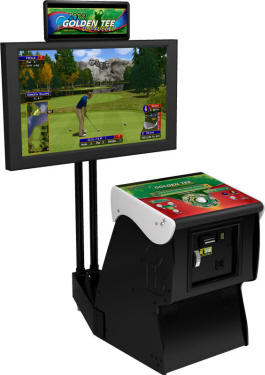 Golden Tee Golf Unplugged 2009 Factory Showpiece Pedestal Cabinet From Incredible Technologies / IT / ITS