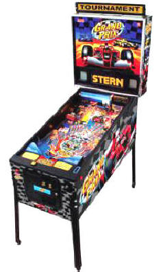Grad Prix Pinball Machine By Stern Pinball From BMI Gaming: 1-800-746-2255