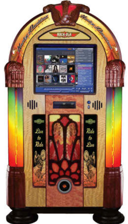 Harley Davidson Music Center Touchscreen Digital Jukebox Model J-70270-A-PV3 By Rock Ola Jukeboxes