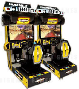 Hummer Extreme Edition Standard Model Video Arcade Driving Game From SEGA Arcade Amusements