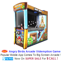 New Videmption Arcade Game For Sale : Angry Birds Ticket Redemption Game