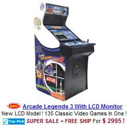 Multigame Video Arcade Machines