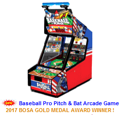 New Redemption Arcade Game For Sale : Baseball Pro Ticket Redemption Game