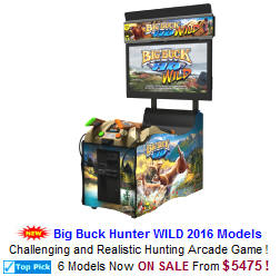 Big Buck Hunter HD WILD Hunting Video Arcade Games For Sale
