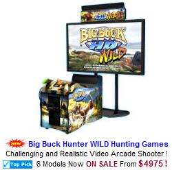 Video Arcade Hunting Game / Shooting Video Arcade Machines