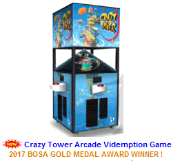 New Videmption Arcade Game For Sale :  Crazy Tower Ticket Redemption Video Arcade Game