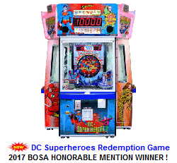 New Token Redemption Arcade Game For Sale : DC SuperHeroes Coin Redemption Game