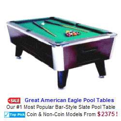 Commercial Coin Operated Pool Tables