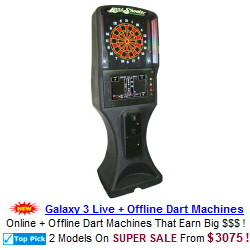 Galaxy 3 Live Internet Online Dart Machine