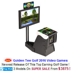 Golden Tee Golf 2016 Video Arcade Games For Sale