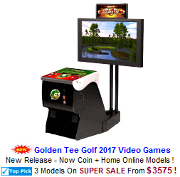 Golf Video Arcade Machines / Golden Tee Golf
