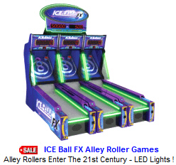 New Ticket Redemption Arcade Game For Sale : ICE Ball FX Alley Roller / Skee Ball Redemption Game