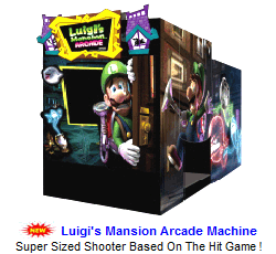 Enclosed Video Arcade Games / Luigis Mansion Arcade Machine