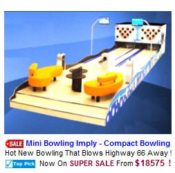 Bowling Alleys / Mini Bowling Lanes / Arcade Bowling Machines