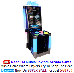 Music Video Arcade Machines / Neon FM Music Rhythm Game