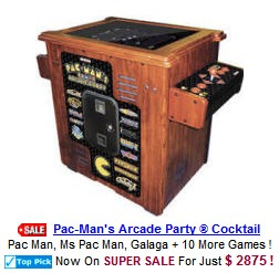 Pac Man - Galaga Cocktail Table
