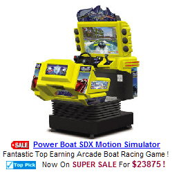 Power Boat SDX Motion Simulator Video Arcade Machine