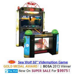 Sea Wolf 55 Video Arcade Redemption Game
