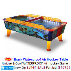 Shark Waterproof and Weatherproof Outdoor Air Hockey Table