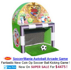 Soccermania Soccer Ball Kicking Arcade Game