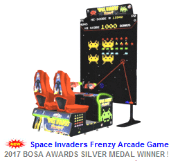 New Video Redemption Arcade Game For Sale : Space Invaders Frenzy Ticket Videmption Game