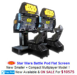 Star Wars Battle Pod Flat Screen Video Arcade Games
