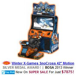 Winter X-Games SnoCross Video Arcade Game