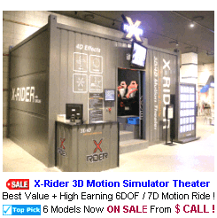 New Arcade 3D Motion Simulator For Sale : X-Rider 3D Motion Simulator Theater
