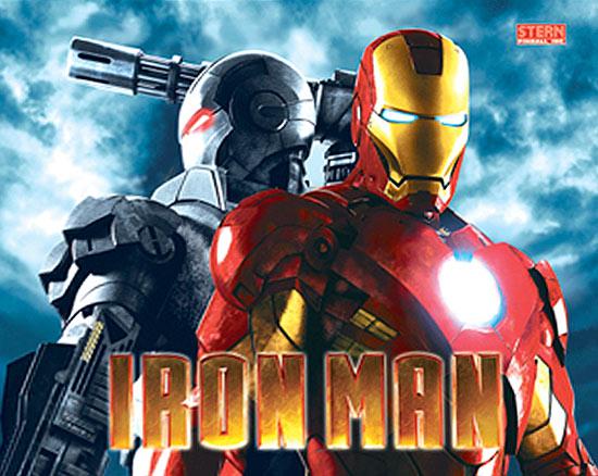 Iron Man Pinball Machine Backglass From Stern Pinball