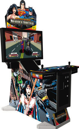 Justice League Heroes United Deluxe DLX Video Arcade Game From Global VR and DC Comics