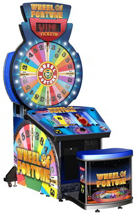 Wheel Of Fortune Ticket Redemption Arcade Video Game From Raw Thrills and Konami