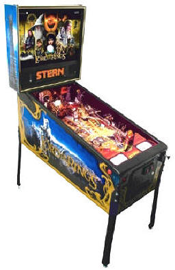 Lord Of The Rings Pinball Machine Limited Edition Pinball Machine - LOTR - From Stern Pinball