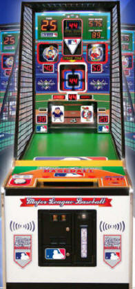 Major League Baseball Arcade Game Speed Throwing Pitching Machine MLB Sports Arcade Ticket Redemption Game From ICE / Innovative Concepts In Entertainment