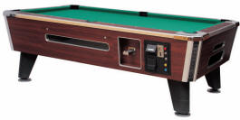 Medalist Spectrum Sterling Pool Table | Commercial Coin-Op / DBA Bar Style Billiards Pool Table By Medalist Marketing | Coin Operated and DBA / Dollar Bill Acceptor Model