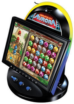 "Megatouch Aurora 17"" Countertop Touchscreen Video Game From Merit Industries By BMI Gaming"