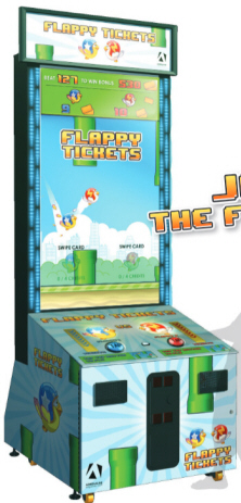 Flappy Tickets Arcade Video Game From Adrenaline