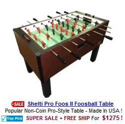 Foosball Tables / Home and Coin Operated Foosball Games