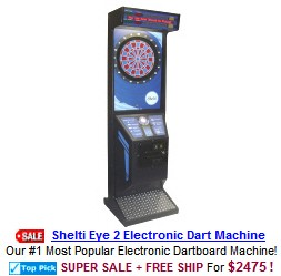 Shelti Eye 2 Coin Operated Commercial Dart Board Machine