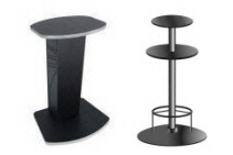 Merit Megatouch Touchscreen Countertop Pedestal Table Stands