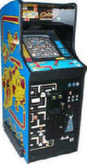 "Ms. Pac-Man / Galaga 20th Anniversary Video Arcade Game - 19"" Home / Free Play Upright Cabinet Caberet Model By Namco Bandai America"