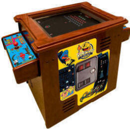 "PacMan / Ms Pac Man / Galaga 25th Anniversary Video Arcade Game - 19"" Home / Free Play Cocktail Table / Tabletop Model By Namco Bandai America"
