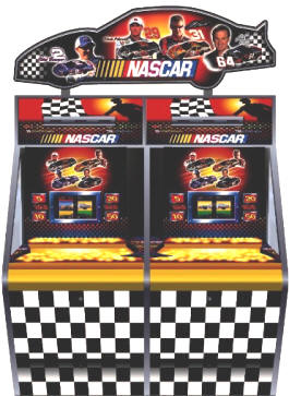 NASCAR 2 Player Token Coin Pusher Machine From Coastal Amusements