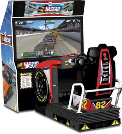 NASCAR Racing Game From EA Sports / Global VR - Motion Cabinet Model From BMI Gaming