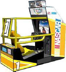 NASCAR Arcade Single Sitdown Video Arcade Game By SEGA